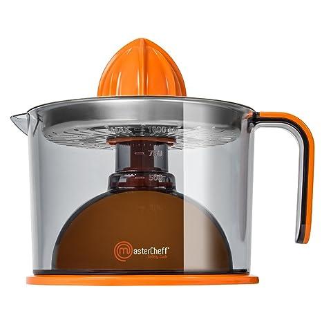 Mastercheff Gallery Cook Exprimidor eléctrico para naranjas y cítricos de 40 W. Filtro de acero