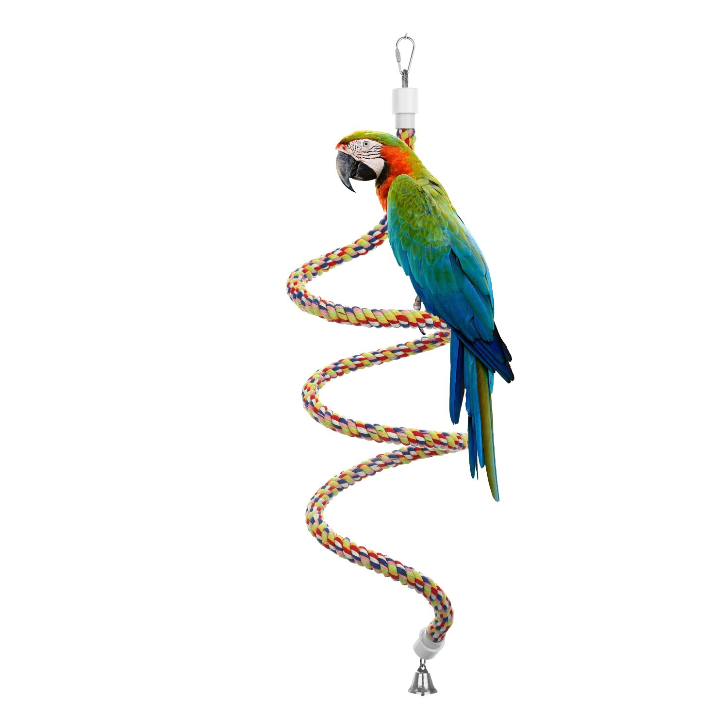 etrech Knots Block Chewing Parrot Toy, Climbing Hanging Toy for Birds