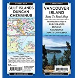 Vancouver Island Large Print / Gulf Islands / Duncan, British Columbia Road and Street Map