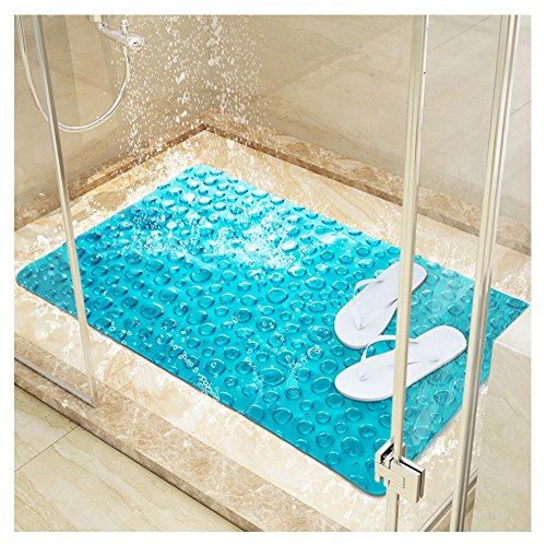 HaloVa Bath Mat, Shower Mat, Machine Washable Bathtub Mat, Non-slip Suction Cup Pad for Bathroom Toilet, Antibacterial and Mildew Resistant - Shower Pad
