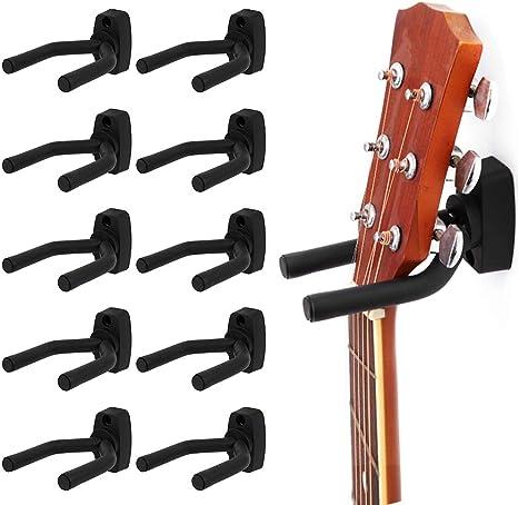 10 soportes de gancho para montaje en pared, soporte para guitarra ...