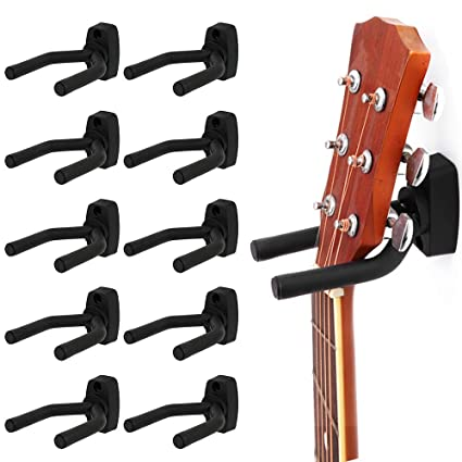 Surfmalleu 10PCS Soporte Pared Guitarra Colgador de Guitarra Eléctrica Ajustable Para Colgar en Pared o Perchero