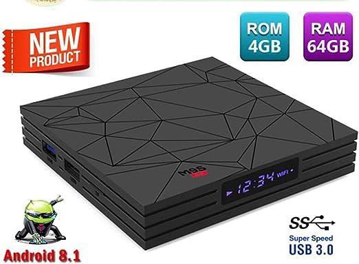WXJHA M9S Y2 1080P Android 8.1 TV Box 4 GB / 64 GB ROM RK3228 Quad Core Smart TV Box Bluetooth 4K HD Juega Multimedia con Control Remoto: Amazon.es: Hogar