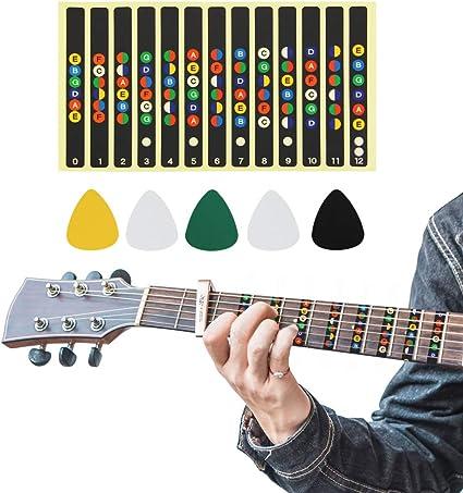 BuzIFU - Pegatinas para guitarra, diseño de guitarra, 5 púas para ...
