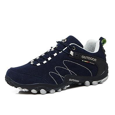 f081932fe0c Showlovein Chaussures de Randonnée en Plein air pour Hommes Escalade Bottes  de Montagne Chaussures Montantes