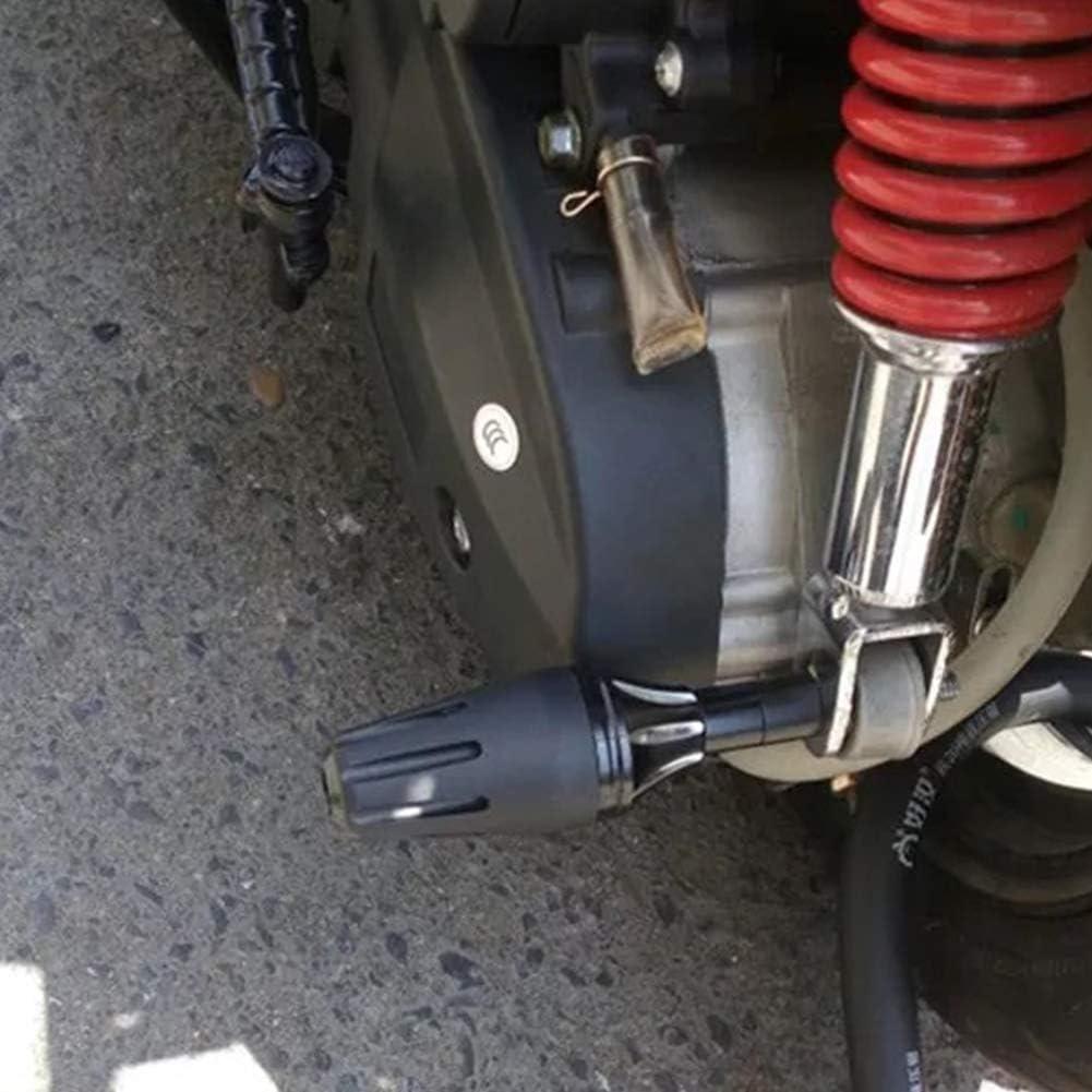 Pas de z/éro bleu Taille unique Sdkmah9 Lot de 2 protections anti-chute universelles pour moto et moto avec glissi/ère en m/étal /à visser et r/ésistant au stress Noir