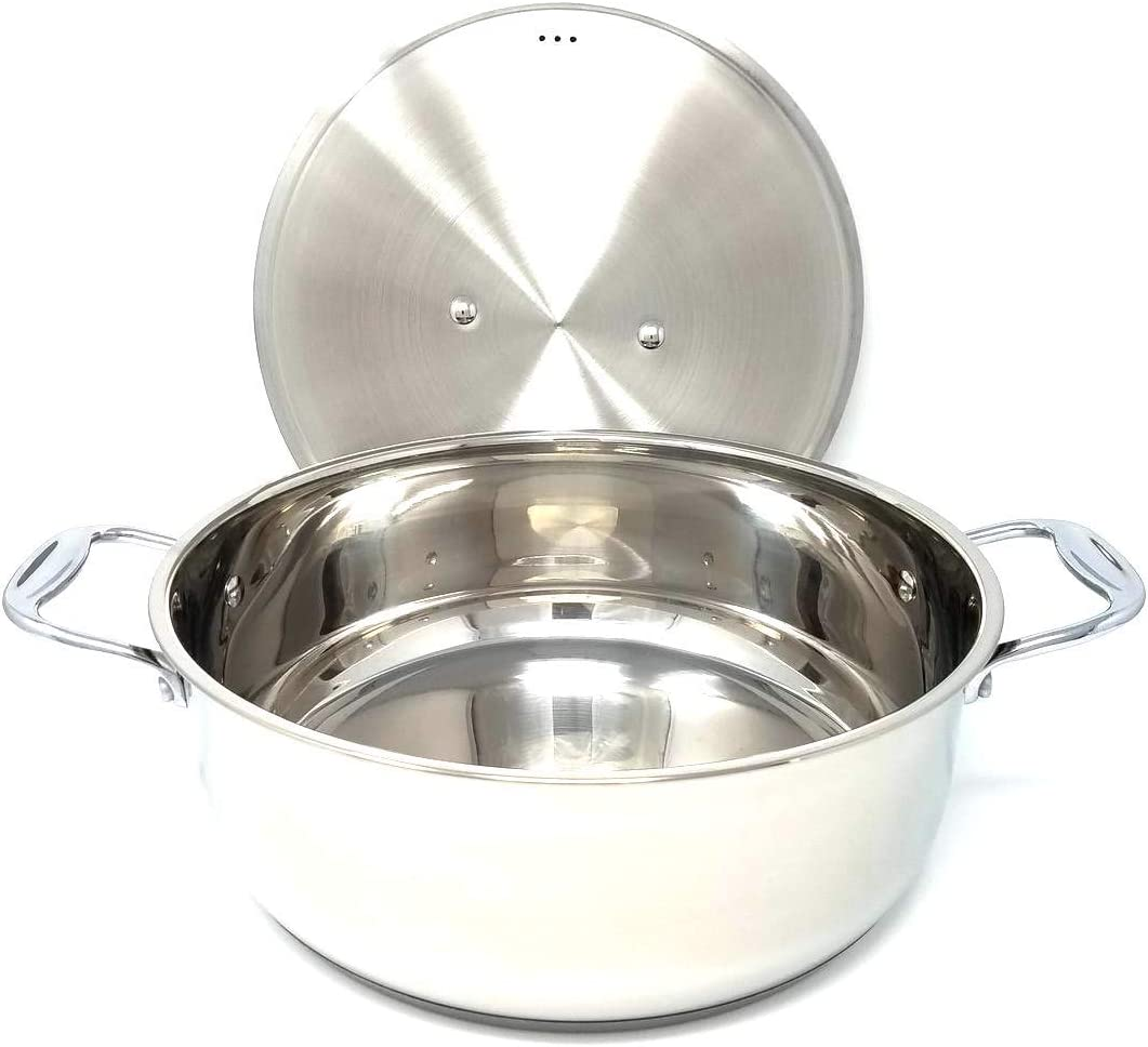 Better Chef, BC1401, 14 Quart Genuine 18/8 XXL Restuarant Grade All Stainless Steel Pot, Lid and Handles with Bright Mirror Surface Great for Rice, Stew, Soups and Sauces Cookware