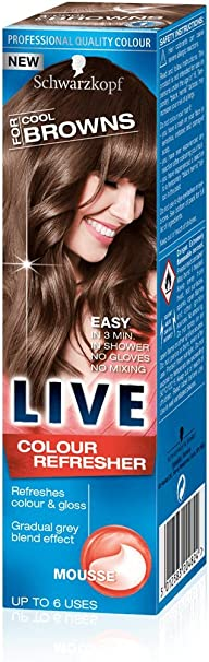 Schwarzkopf LIVE Hair Color Refresher MOUSSE All Shades 75 ml