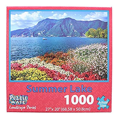 Puzzle Mate - Summer Lake - 1000 Piece Jigsaw Puzzle: Toys & Games