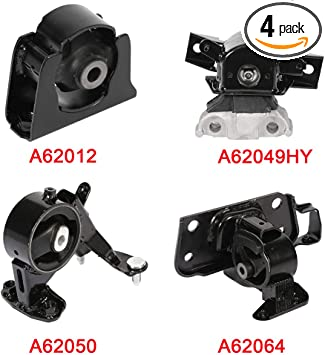 cciyu Engine Motor and Trans Mounts A6774 A6770 A6771 A6775 Set of 4 fit for Kia Sedona 2002 2003 2004 2005 3.5L