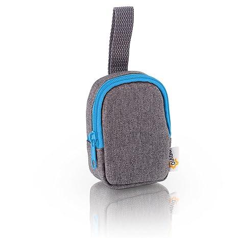 DIAGO 30068.75274 Deluxe - Funda para chupete, color gris y azul