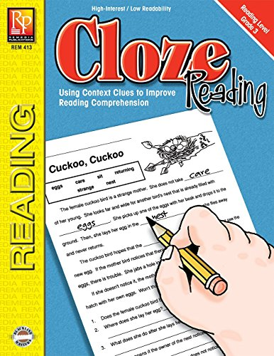 Cloze Reading (Reading Level 3) | Reproducible Activity Book (Cloze Reading Comprehension)