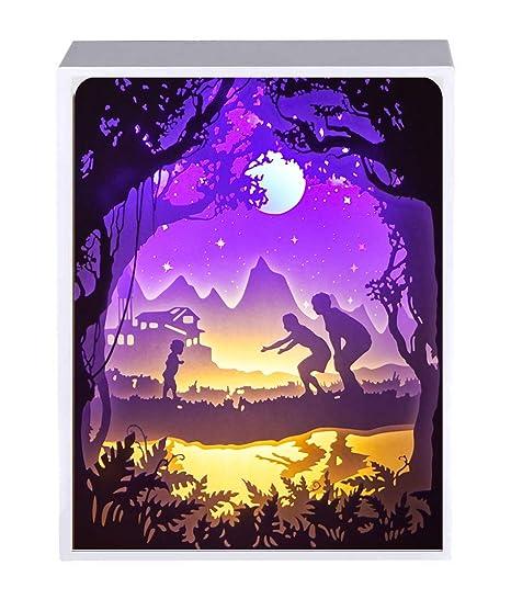 Cajas De Luz De Corte De Papel CcCoc, Luces LED Decorativas, Lámparas De Mesa