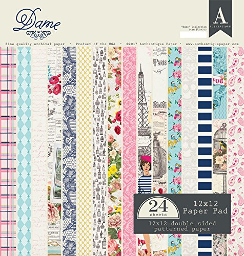 Authentique Paper CDA013 Authentique Double-Sided Cardstock Pad 12