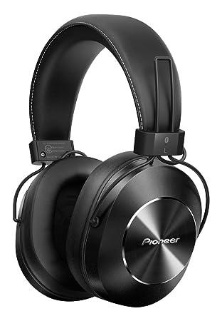 pioneer over ear headphones. pioneer bluetooth and high-resolution over ear wireless headphone, black (se-ms7bt headphones amazon.com