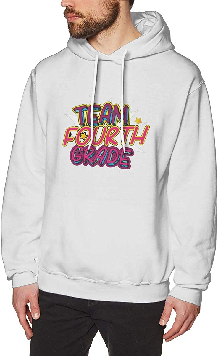Team 4th Grade Teacher Fourth Grade Team Mens Hooded Sweatshirt Theme Printed Fashion Hoodie