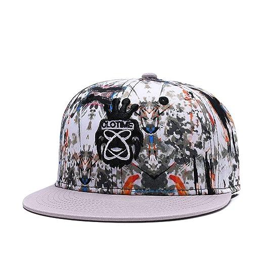 d7fb3dd4d1 Quanhaigou New Snapback Hat - Men Women Flat Bill Visor Caps Hip-hop  Adjustable Baseball