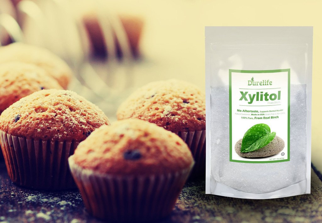 DureLife Birch XYLITOL Sugar Substitute 1 LB (16 OZ) Made From 100 % Pure Birch Xylitol In The USA , NON GMO - Gluten Free - Kosher , Packaged In A Resealable zipper lock Stand Up Pouch Bag by DureLife (Image #8)