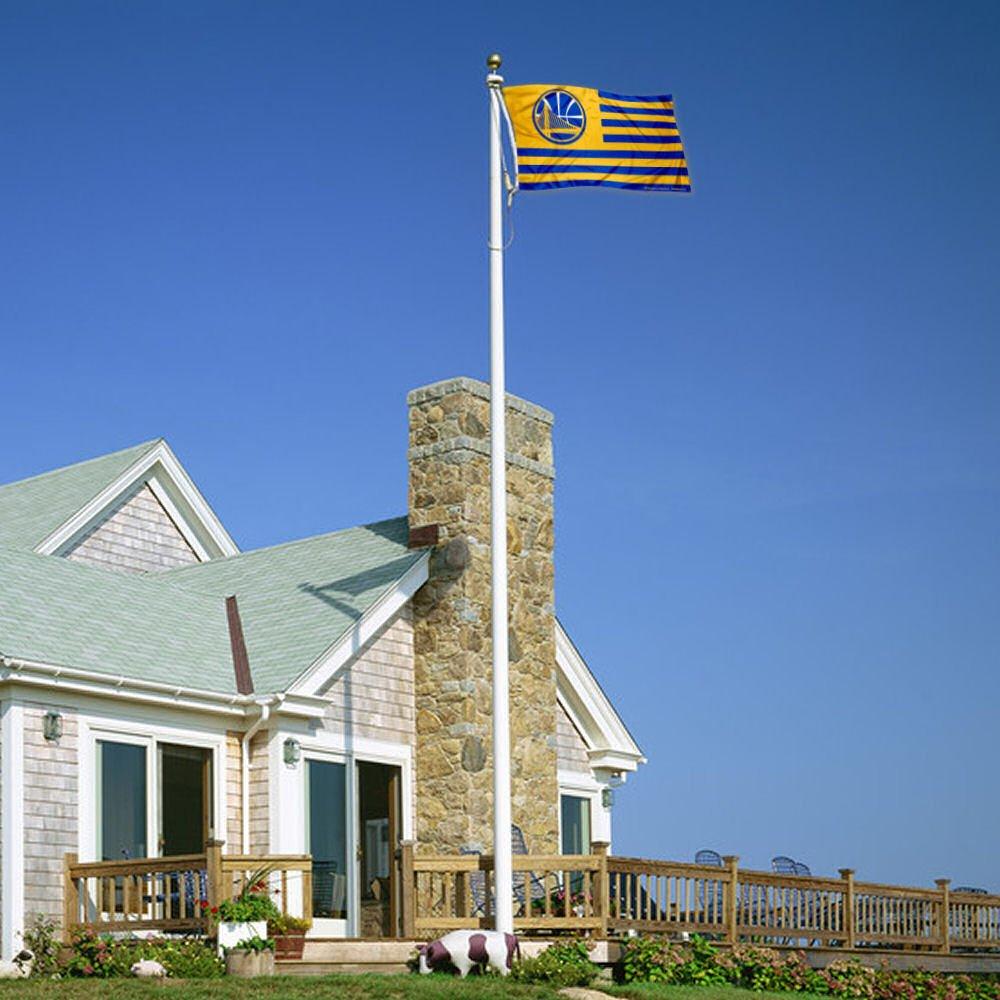 WinCraft Golden State Warriors Americana Stripes Nation 3x5 Flag