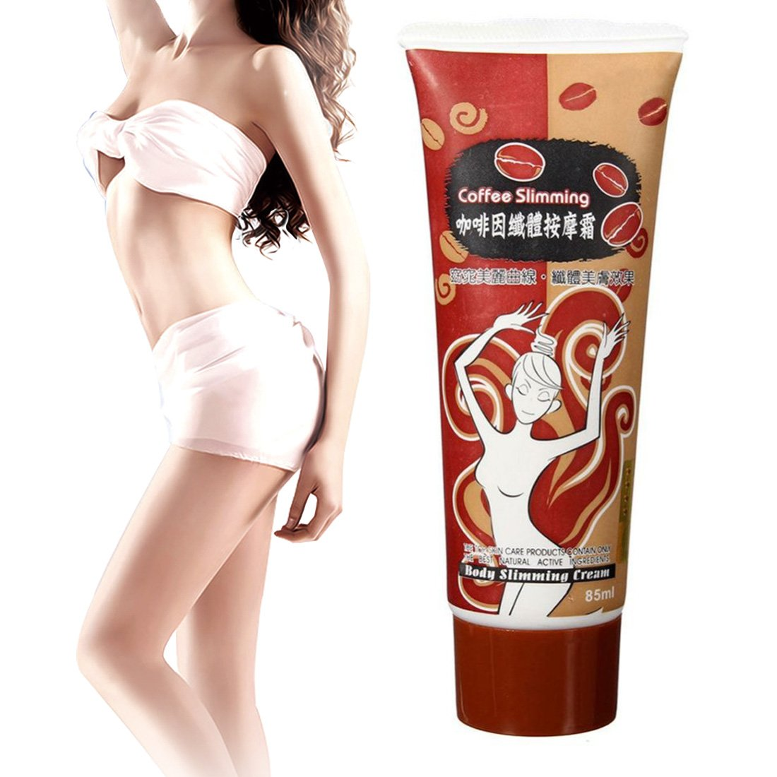 Bath & Shower Slimming Cream Weight Loss Hot Burning Heating Fat Leg Thigh Arm Hip Lose Weight Stomach Anti Cellulite Massage Care Tool