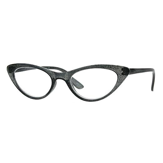 1f1e13e67b Amazon.com  Womens Cat Eye Plastic Glitter Frame Reading Glasses 1.0 ...
