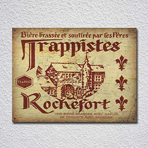 NNHG Tin Sign 8x12 inches Trappist Belgian Lager Beer Vintage Tin Sign
