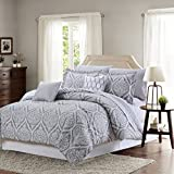 Sweet Home Collection Decorative Fashion Comforter Set Includes Sheet, King, Paisley Gray, 9 Piece
