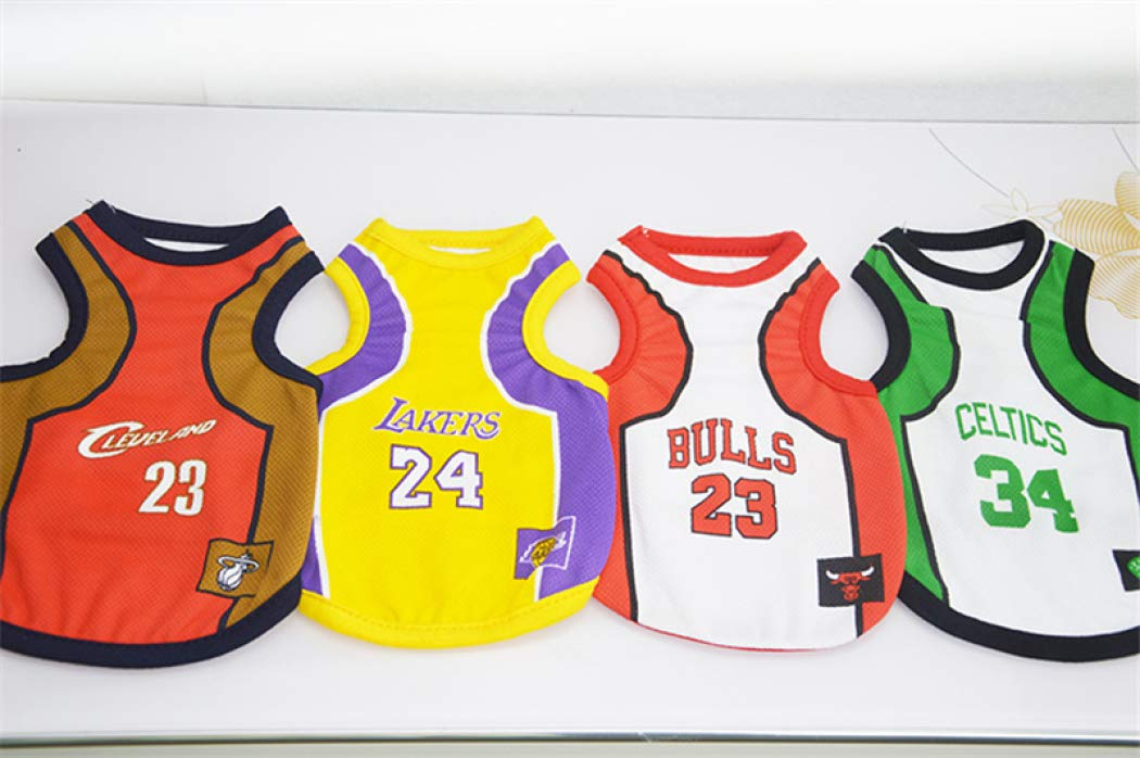 Dog Vest Basketball Jersey Cool Breathable Pet Cat Clothes Puppy Sportswear Spring//Summer Fashion Cotton Dog Shirt