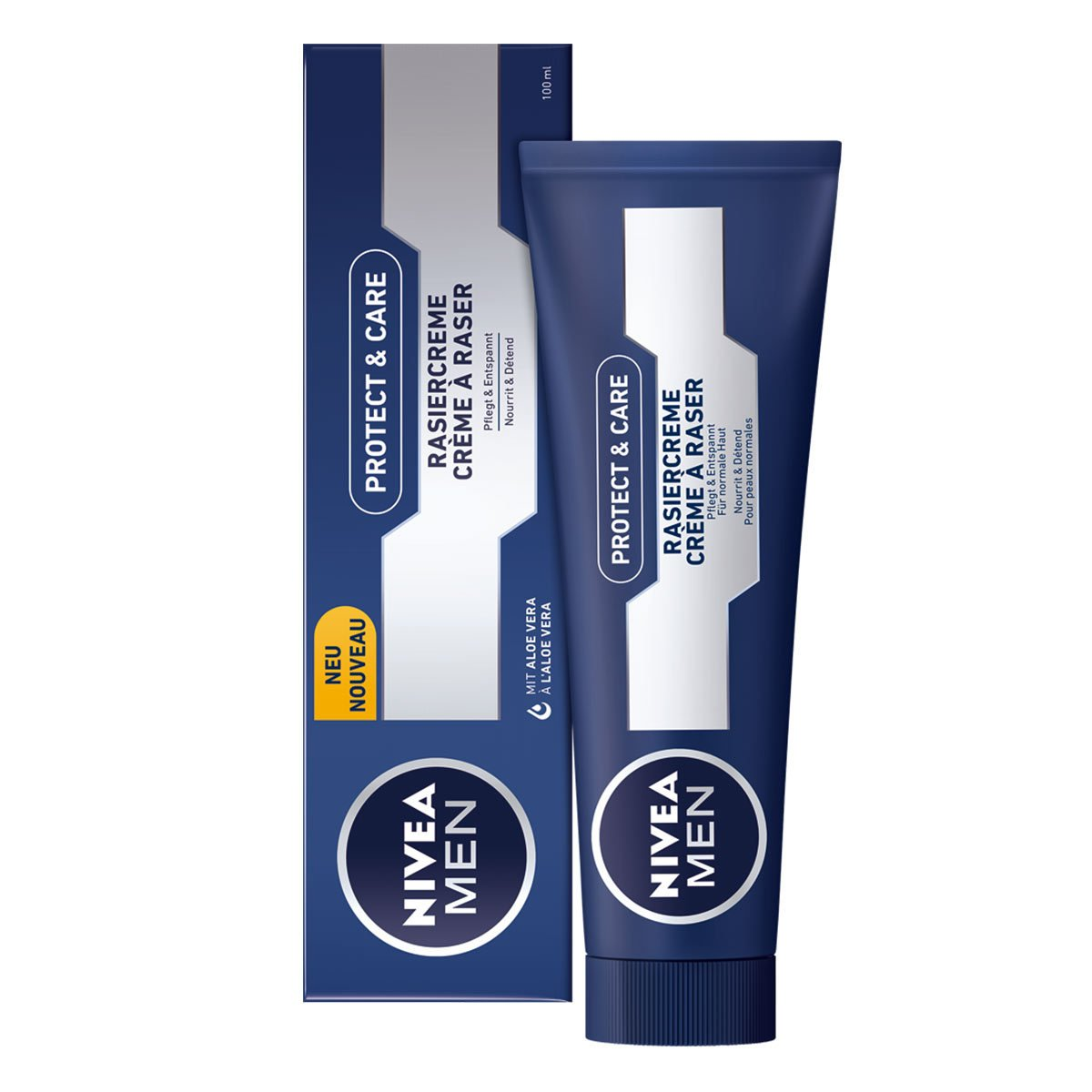 Nivea Men Original Lather Shaving Cream in Tube 3.5oz - (PACK OF 3)