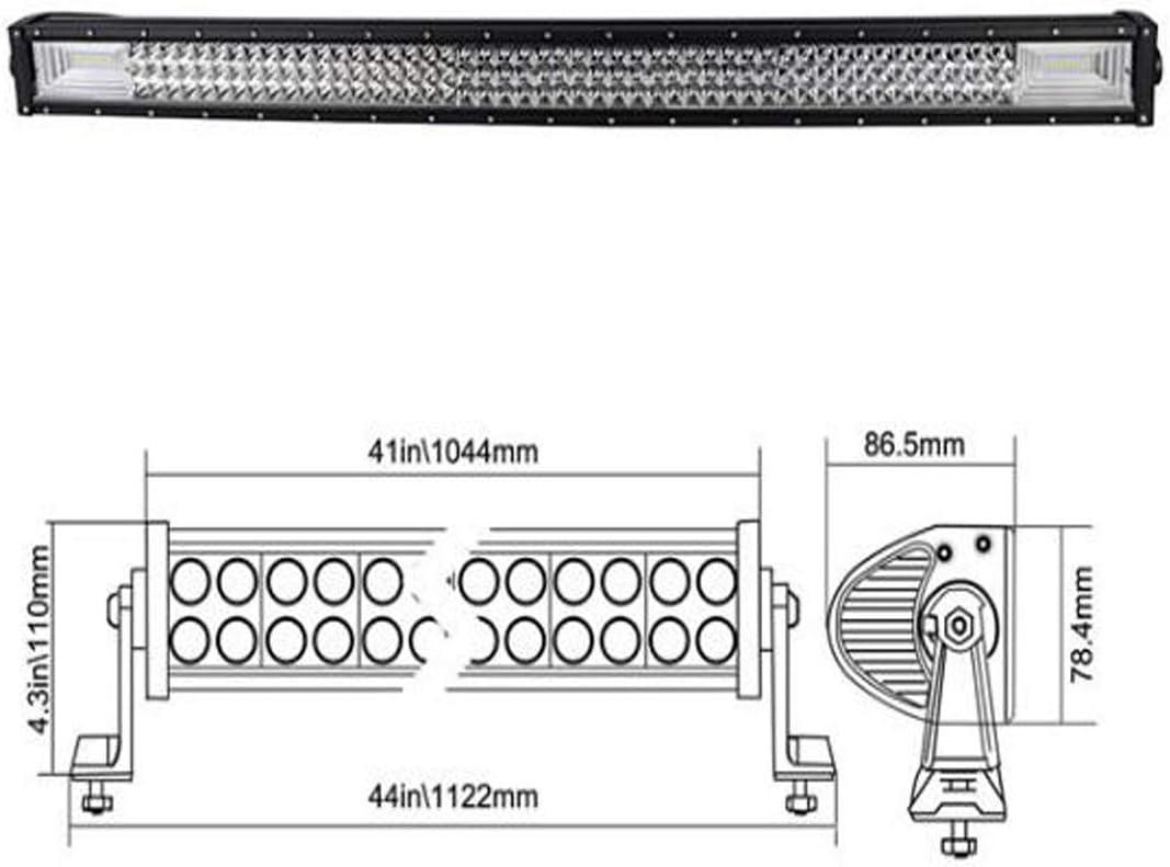 32 Zoll 81cm 40500LM Gebogen Scheinwerfer Flutlicht combo Offroad Beleuchtung mit Kabelbaumsatz f/ür 4x4 SUV ATV UTV Auto traktor Bagger LKW KFZ wei/ß 12V 24V SKYWORLD LED Arbeitsscheinwerfer Bar