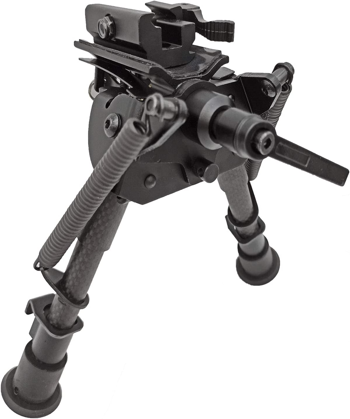 ACTIVE-8 6-9 Inches Carbon Fiber Rifle Bipod Picatinny Bipod W//O Adapter 4 Color