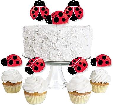 Amazon.com: Modern Ladybug - Juego de 24 púas para cupcakes ...