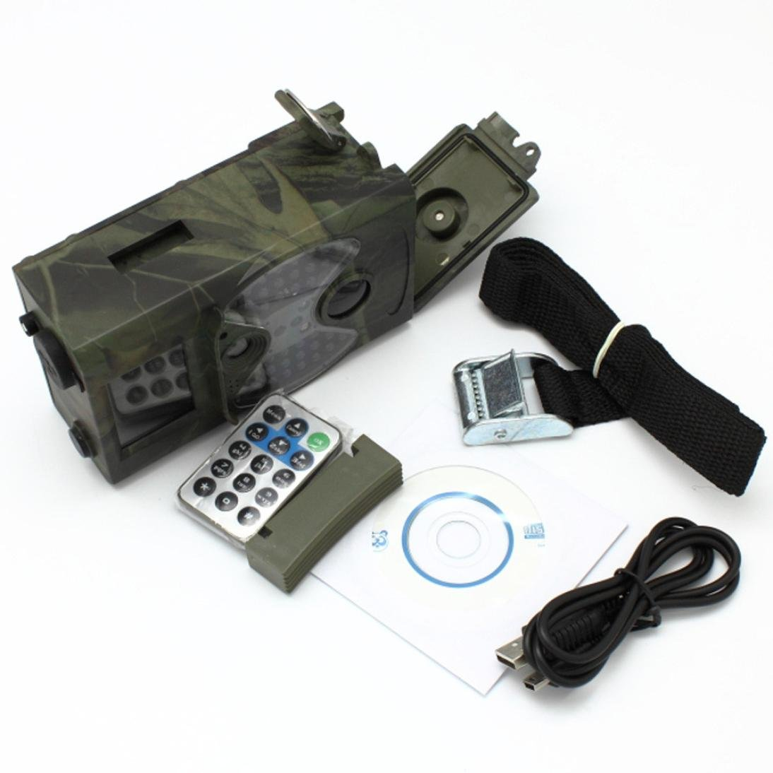 Dreamyth HC300 940NM Scouting Hunting Camera HD Digital Infrared Trail Camera IR LED Practical (army green)