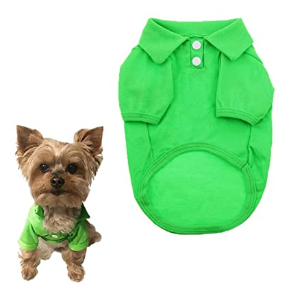 e0747b84c44cd Petea Dog Shirts Pet Puppy Cotton Polo Shirt Basic T-Shirt Clothes for Dogs  and Cats