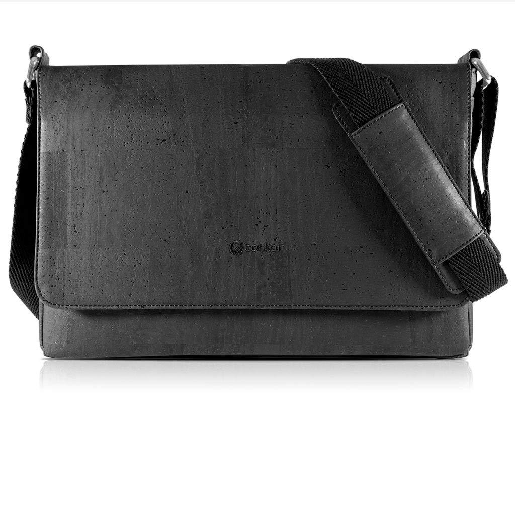 e6c03da8fe Corkor Messenger Laptop Bag 15 for Men | Vegan Cork | Crossbody Strap Brown  Color