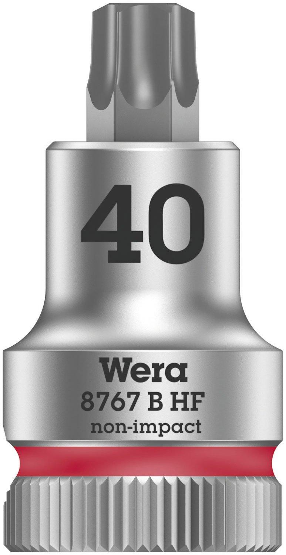 Wera 05003068001 8767 B Holding Function Torx Zyklop Bit-Socket, Red, 3/8-Inch, TX 40 x 35 mm