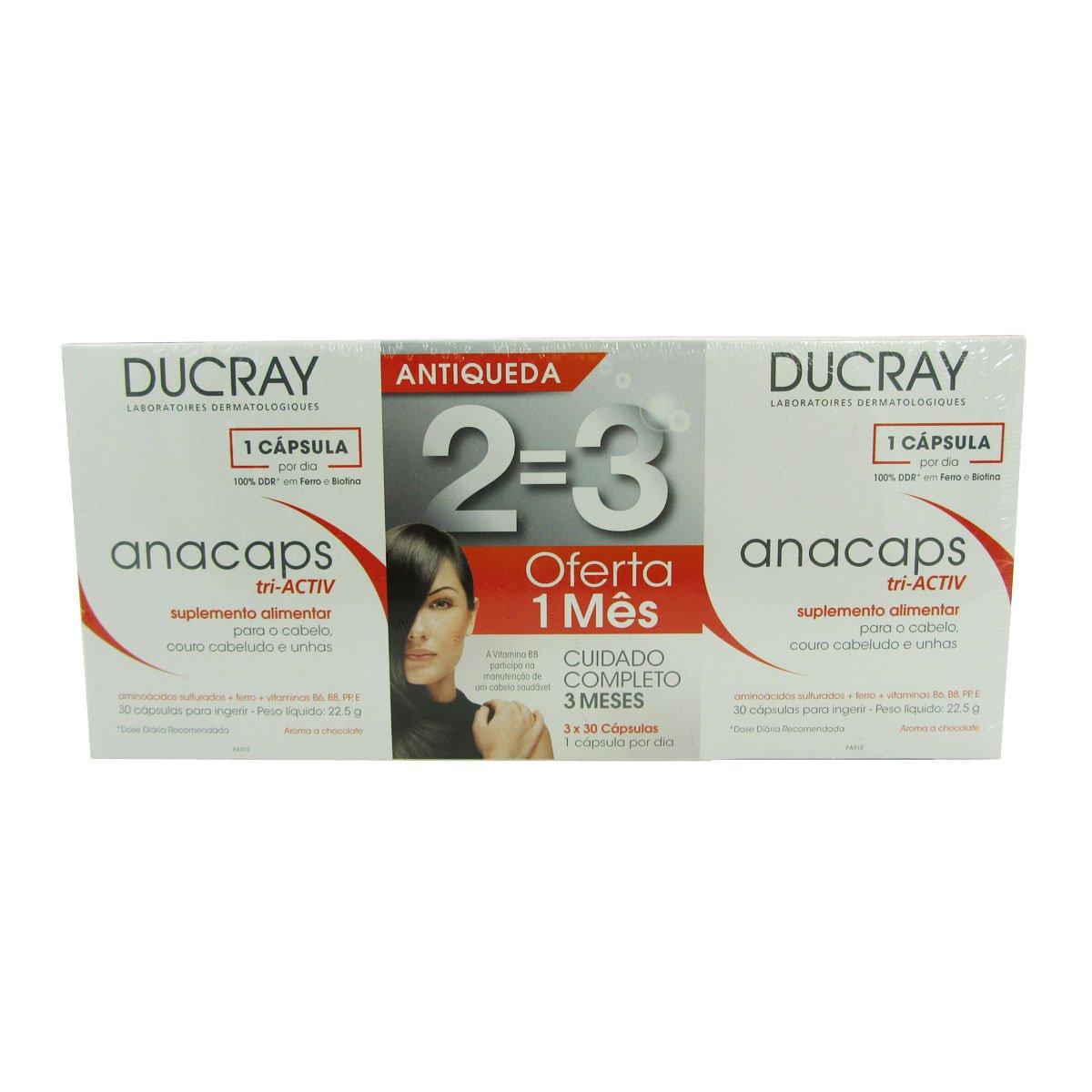Ducray Anacaps Reactiv Pack 3 X30 Caps
