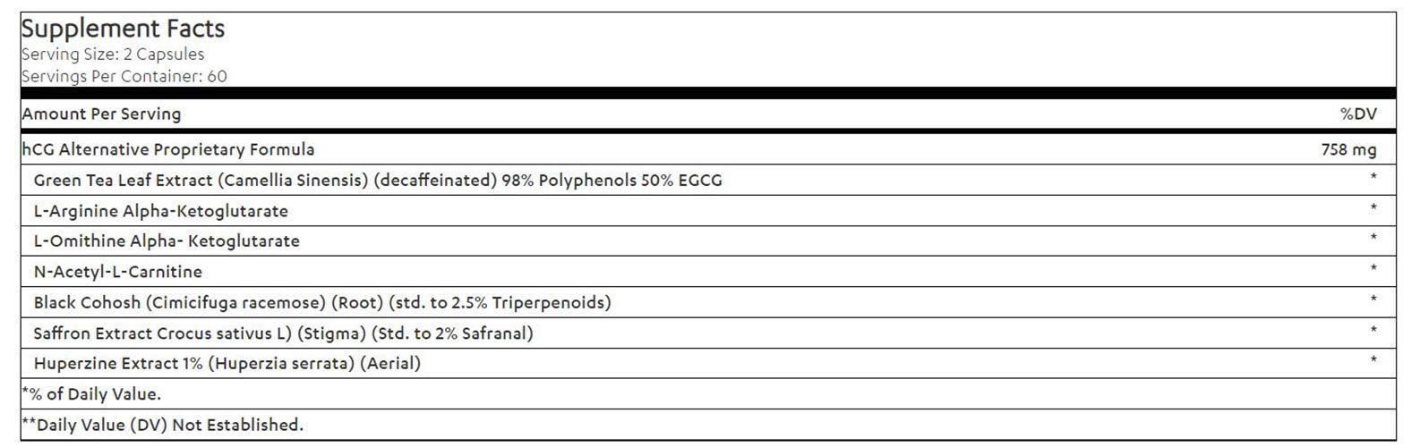 Biogentic Laboratories hCG Alternative Weight Loss Formula 2 Pack   60 Day Supply (120 Capsules per Bottle) Bonus Diet Plan Included   Hormone- Free, Stimulant- Free by Bio genetic Labs