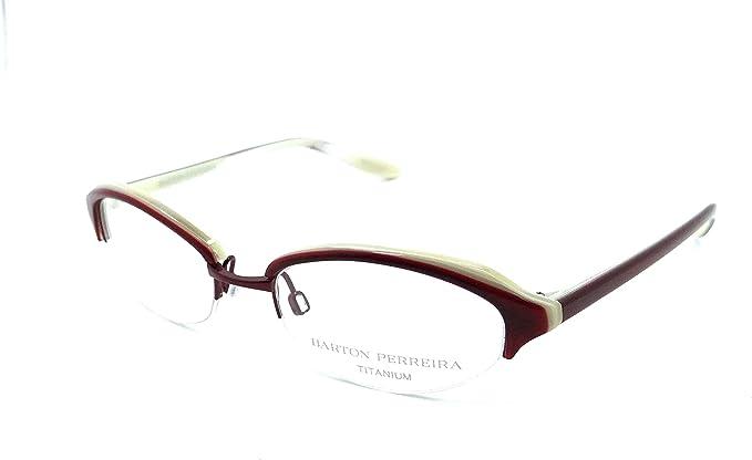 Barton Perreira Sylvia Eyeglasses Frames 49-18-135 Cask//Dune Women