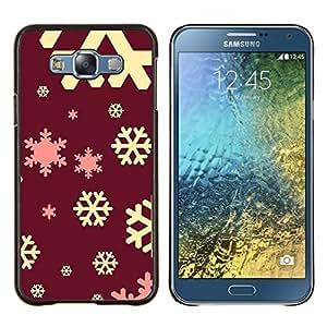 Stuss Case / Funda Carcasa protectora - Yellow rose de Noël rouge d'hiver - Samsung Galaxy E7 E700