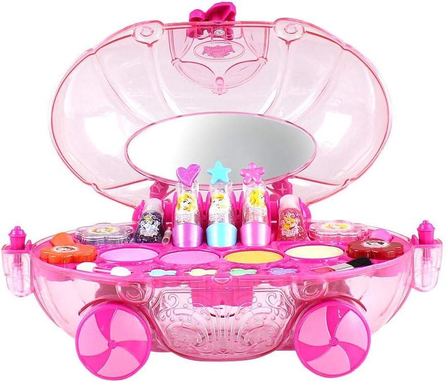 Caja de maquillaje con forma de princesa Disney, juguete de ...