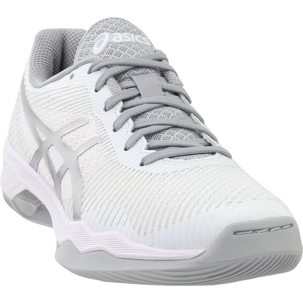 ASICS Women's Volley Elite FF MT Volleyball Shoes, WhiteSilver, Size 8.5
