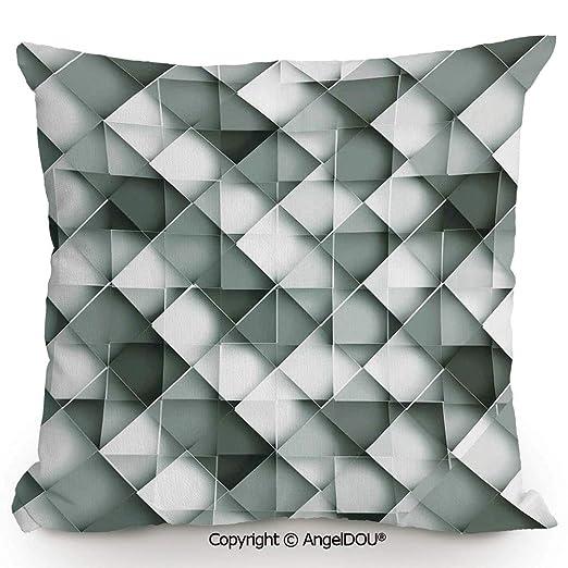 AngelDOU - Cojín de Lino y algodón, diseño de Luna, Color ...