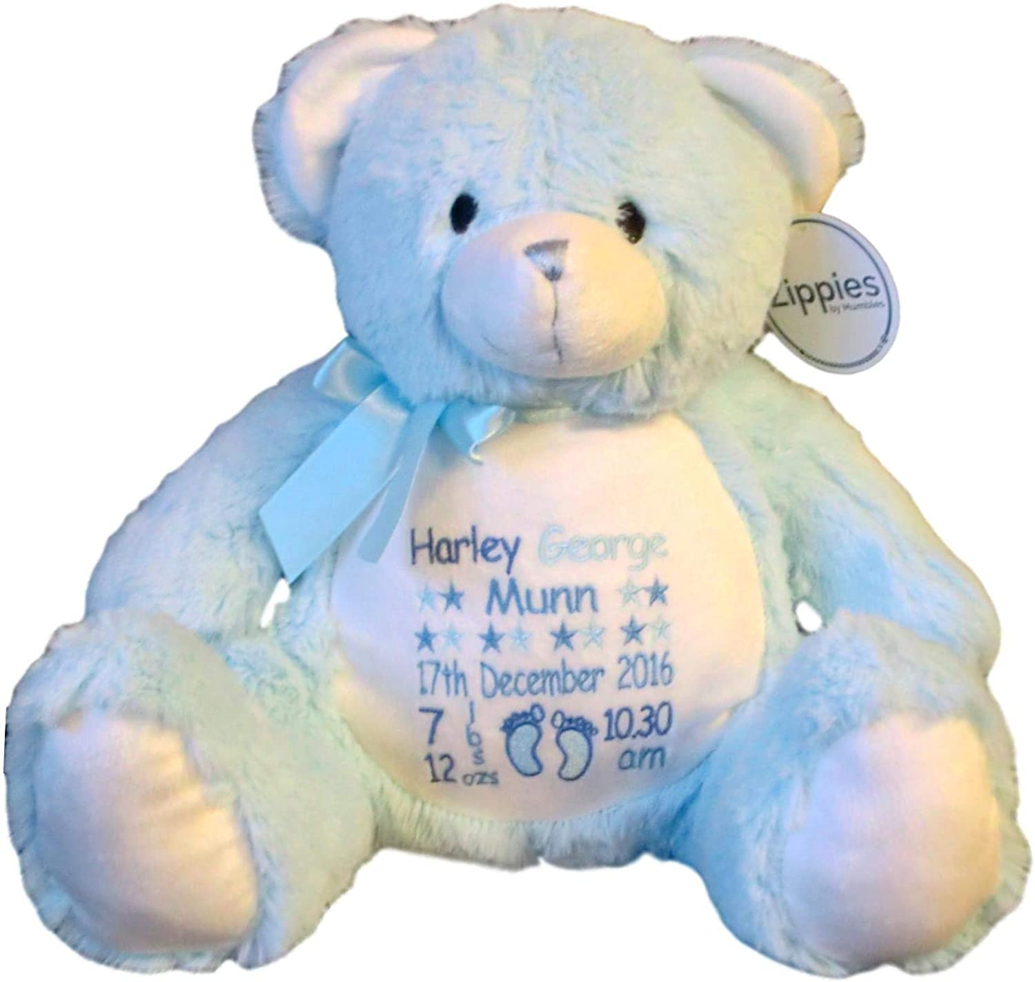 PERSONALISED Unique Keepsake Handcrafted Personal Memory Bear EMBROIDERED