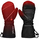 Heated Gloves,Mens Womens Heated Ski Gloves Mittens,7.4V 2200MAH Electric Rechargeable Battery Gloves for Winter Skiing Skating Snow Camping Hiking Heated Arthritis Hand Warmer Gloves