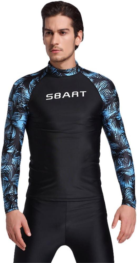 Fortunings JDS® Hombres con Estampado de Manga Larga Rashguard protección Solar Trajes de baño Camisa de natación: Amazon.es: Deportes y aire libre
