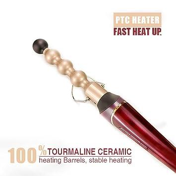 Curling Wand/Beach Hair Curling Iron - Rizador De Cabello Con Bola De Cerámica Infundida