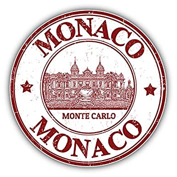 Monte Carlo Monaco Grunge Rubber Stamp Travel Art Decor Vinyl Sticker Aufkleber 12 X Cm