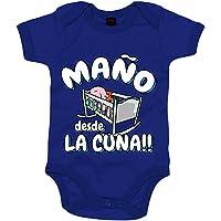 Body bebé Maño desde la cuna del Zaragoza para aficionado al fútbol - Azul Royal, Talla única 12 meses