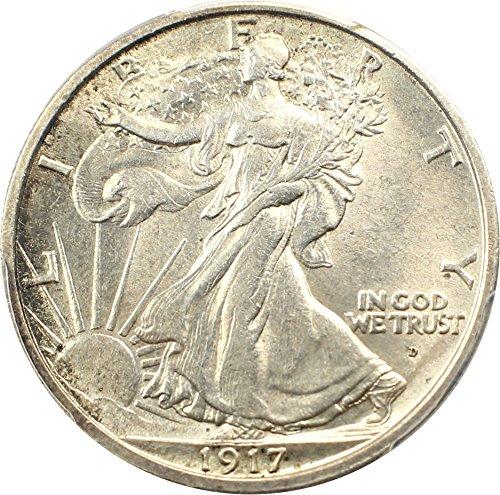 1917 D Walking Liberty Halves Mintmark Obverse Half Dollar MS63 (Walking Liberty Half Dollar Mintmark)